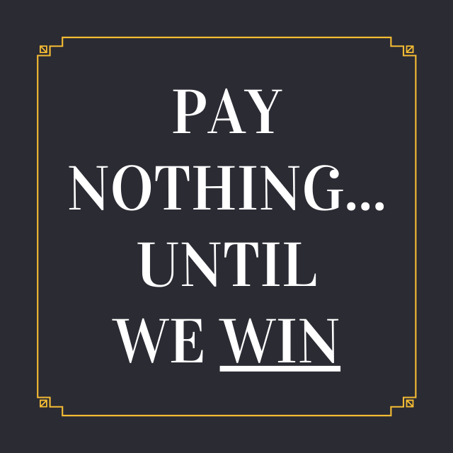 """This is the Creekside Injury Law slogan: """"Pay Nothing... Until We Win"""" - Creekside Injury Law is a Utah Personal Injury Law firm."""